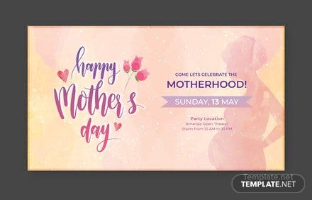 Free Mother's Day YouTube Channel Cover Template