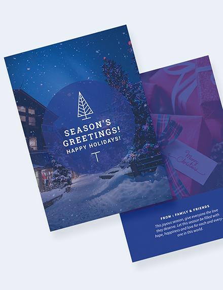 Holiday Greeting Photo Card Download