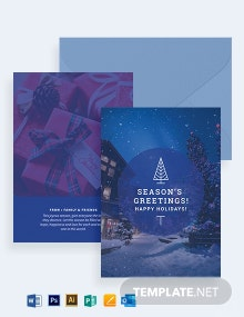 Holiday Greeting Photo Card Template