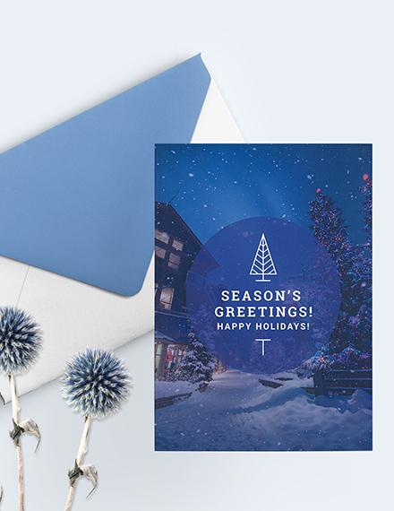 Sample Holiday Greeting Photo Card