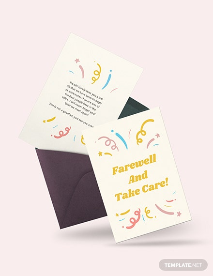 Office Farewell Card Template Word Psd Apple Pages