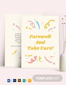 Office Farewell Card Template