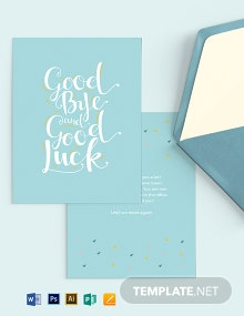 Office Goodbye Card Template