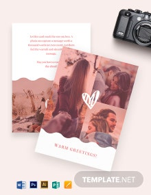 Photo Greeting Card Template