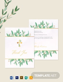 Religious Thank You Card Template