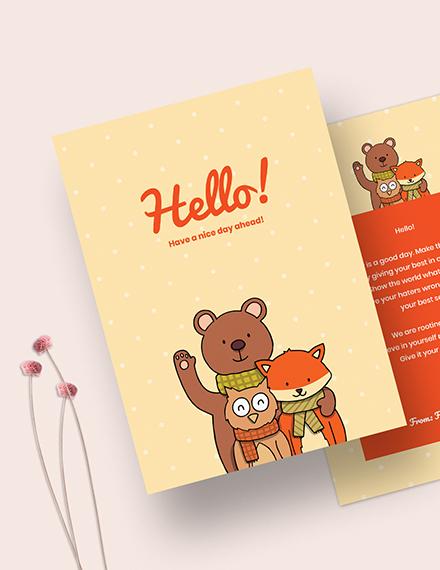 Sample Simple Greeting Card