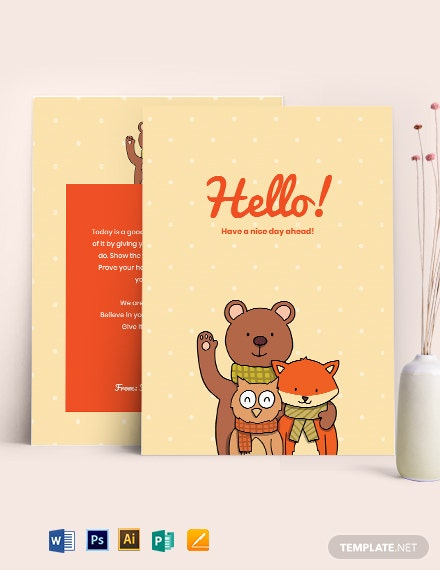 Simple Greeting Card Template
