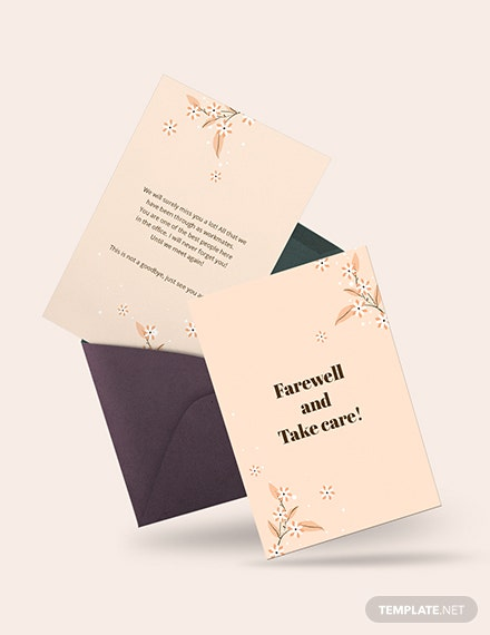 Simple Office Farewell Card Download