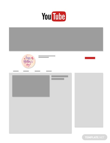 free mothers day youtube profile photo template