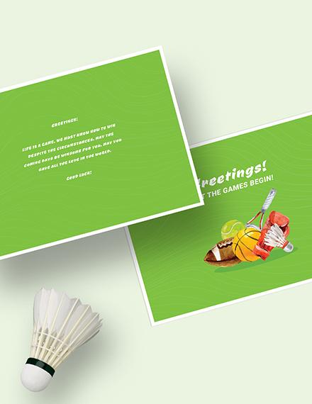 Sample Sports Greeting Card