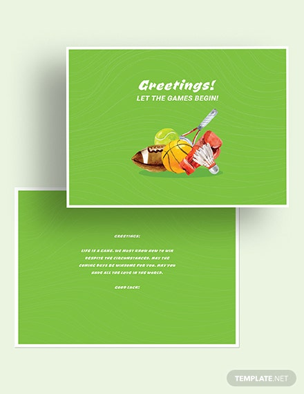 Sports Greeting Card Download