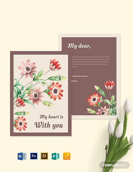 Sympathy Card Template