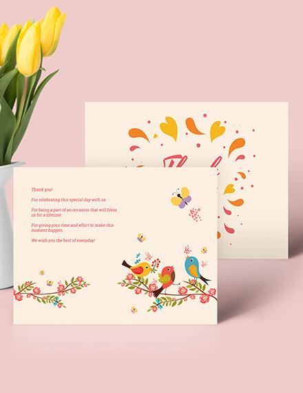 Sample Thank You Greeting Card