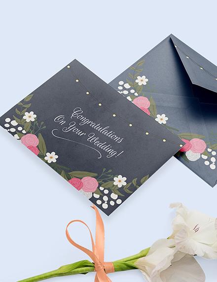 Sample Wedding Congratulations Card