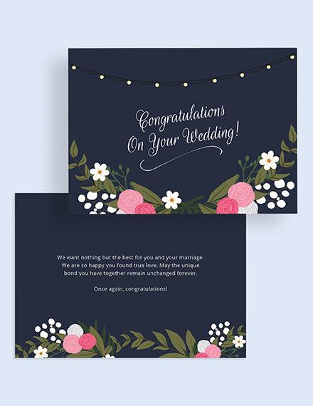 Wedding Congratulations Card Download