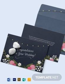 Wedding Congratulations Card Template