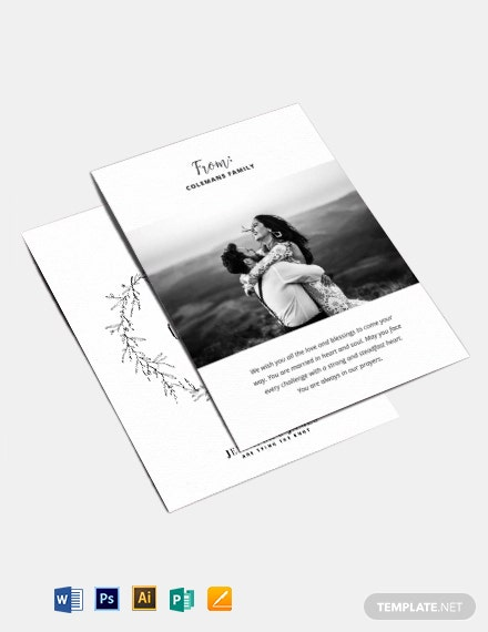 Wedding Greeting Card Template