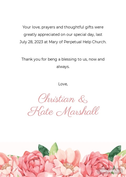 Wedding Photo Thank You Card Template [Free JPG] - Illustrator, Word, Apple Pages, PSD, Publisher