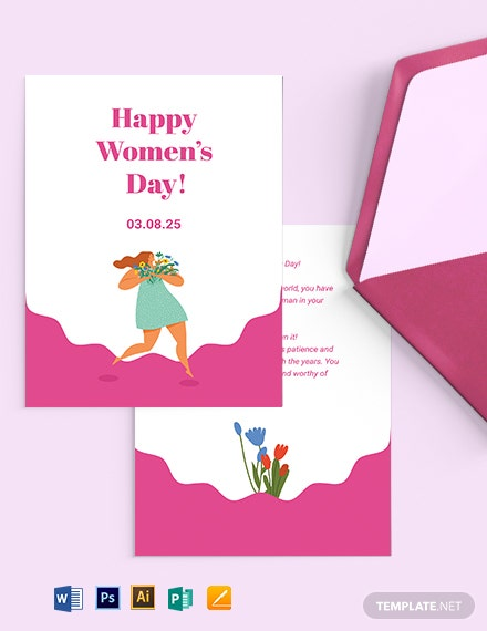 Women's Day Greeting Card Template