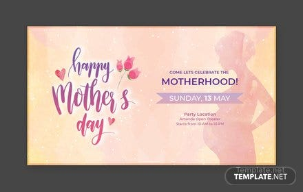 Free Mother's Day YouTube Video Thumbnail Template