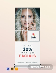 Beauty Saloon Roll-Up Banner Template