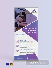 Business Roll-Up Banner Template