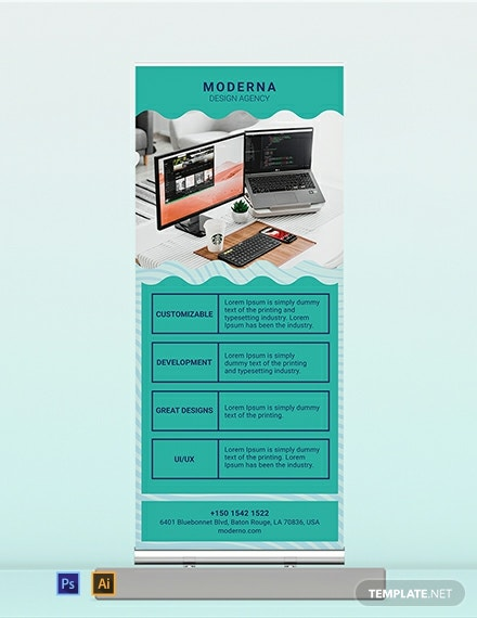 Design Agency Roll Up Banner Template