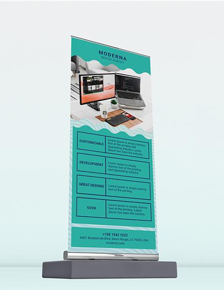 Design Agency Roll Up Banner Download