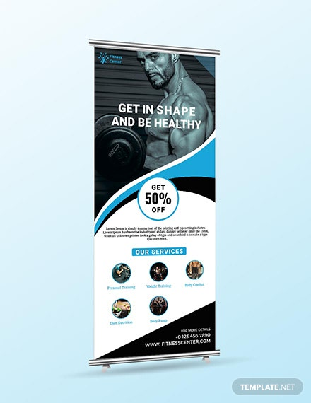 Fitness Roll up Banner Download
