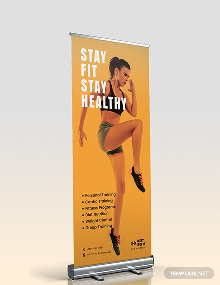Gym Roll Up Banner Download
