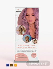 Hair Salon Roll-Up Banner Template