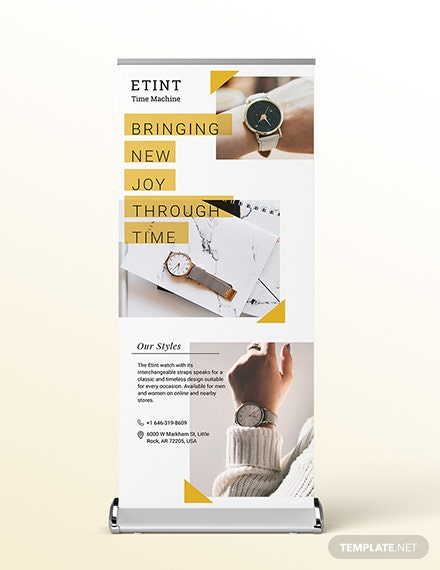 Product Launch Roll-Up Banner Template