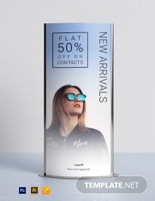 Product Roll-Up Banner Template