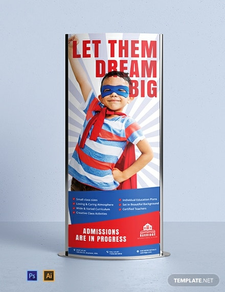 School Promotion Roll-Up Banner Template