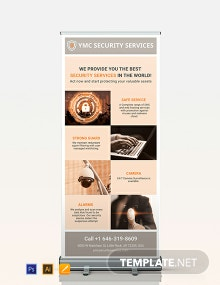 Security Services Roll-Up Banner Template