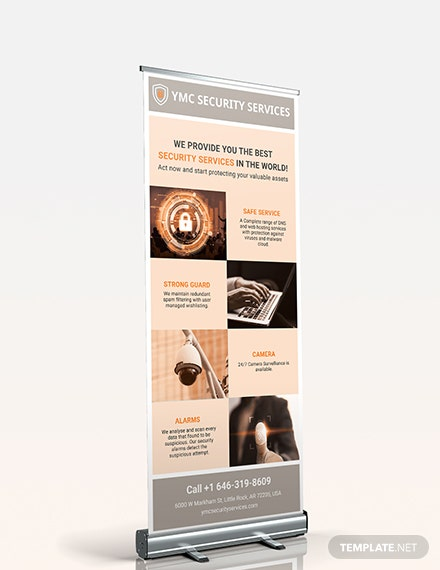 Security Services Roll Up Banner Download