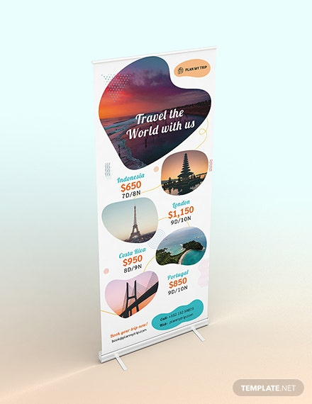Travel Agency Roll Up Banner Download