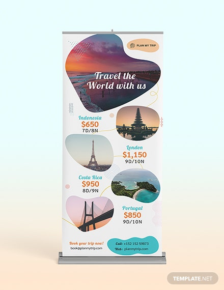 Travel Agency Roll-Up Banner Template