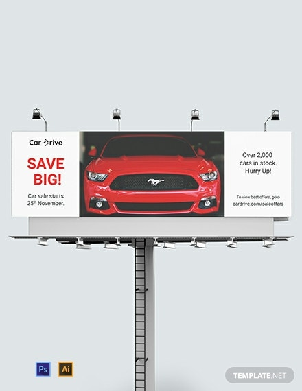 Car Sales Billboard Template