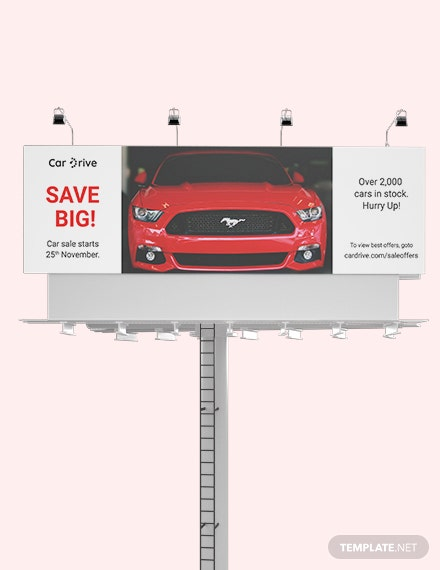 Car Sales Billboard Template