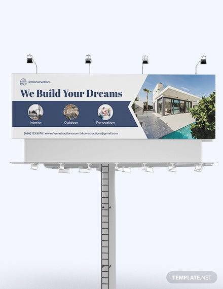 Construction Billboard Template