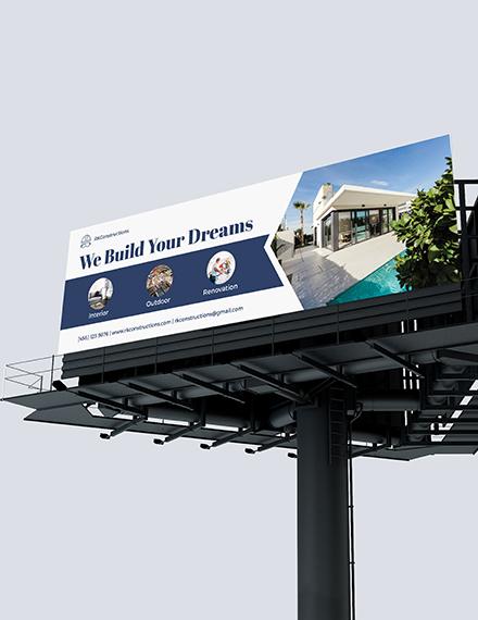 Sample Construction Billboard