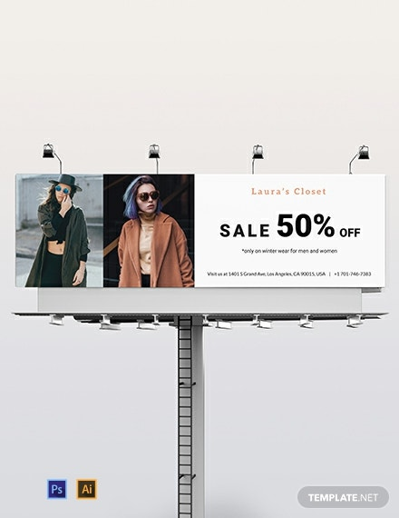 Fashion Billboard Template