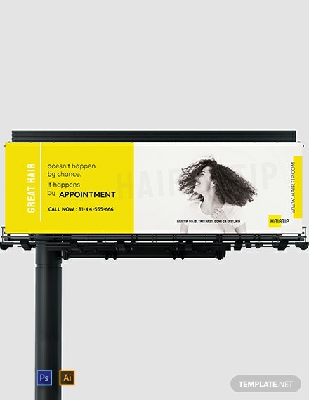 Hair Salon Billboard Template