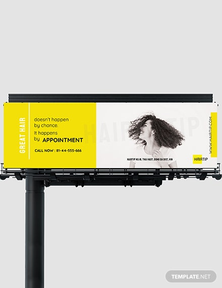 Hair Salon Billboard Template