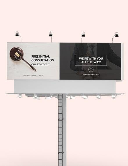 Law Firm Billboard Template