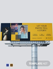Photography Billboard Template