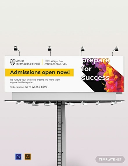 School Billboard Template