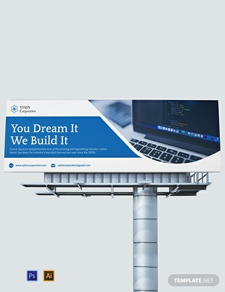 Technology Business Billboard Template
