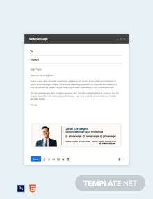 Elegant Business Email Signature Template